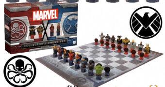 Xadrez Marvel Collector S.H.I.E.L.D. Versus Hydra