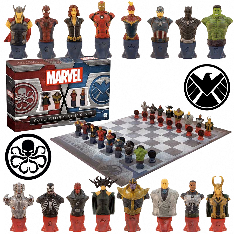 Xadrez Marvel Collectors Chess Set SHIELD vs Hydra