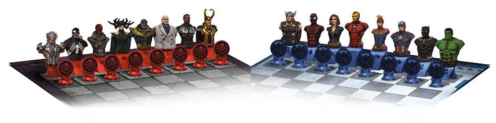 Xadrez Marvel Collectors Chess Set SHIELD vs Hydra
