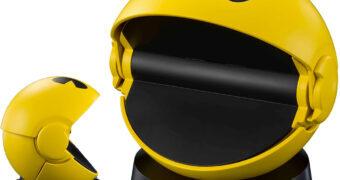 Pac-Man de Luxo que Abre e Fecha a Boca com Efeitos Sonoros
