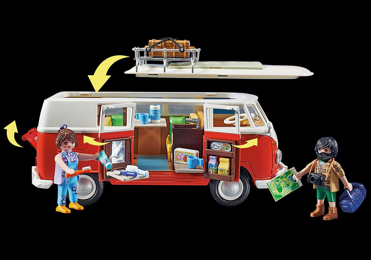 Kombi Playmobil Volkswagen T1 Camping Bus