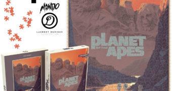 Planeta dos Macacos e o Monte Rushmore – Quebra-Cabeça Mondo do Pôster de Laurent Durieux