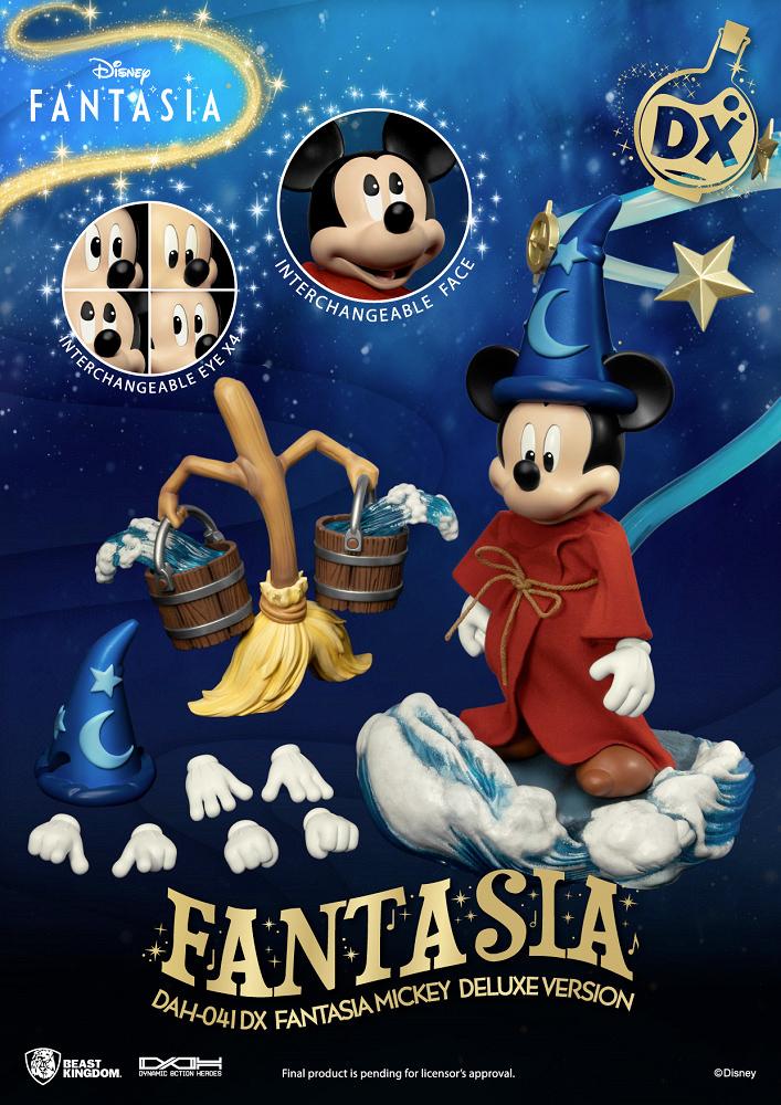 Action Figure Sorcerer Mickey Fantasia DAH-041DX Deluxe