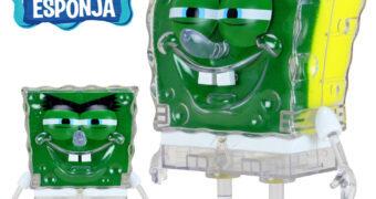 Boneco ToyArt Bob Esponja Calça Quadrada com Esponja de Cozinha Abrasiva