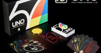 Jogo de Cartas Uno Versão de Luxo Comemorativa dos 50 Anos