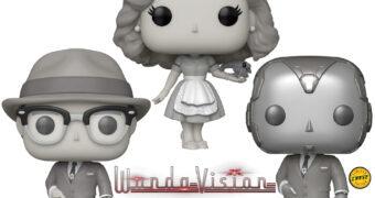Bonecos Pop! WandaVision em Preto e Branco: Wanda e Visão