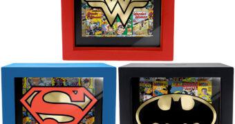 Cofres Quadros DC Comics Shadow Box: Mulher Maravilha, Super-Homem e Batman