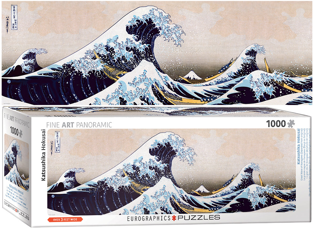 Quebra-Cabeca Great Wave of Kanagawa 1000 Pieces Panoramic Puzzle