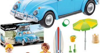 Playmobil Volkswagen Fusca Azul Claro com Teto Solar