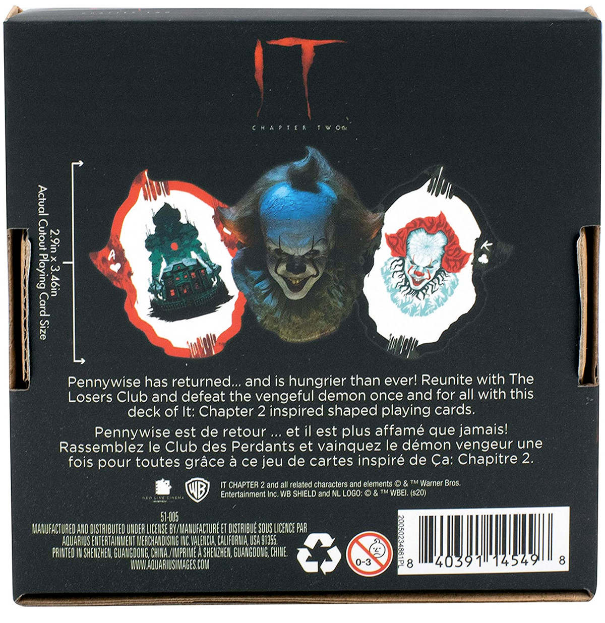 Baralho IT Chapter 2 Pennywise Shaped Playing Cards