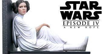 Estátua Leia Organa Milestone Prisioneira na Estrela da Morte – Star Wars Uma Nova Esperança