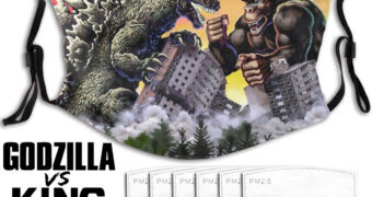 Máscara Facial Godzilla vs. Kong com Filtro de Carbono
