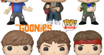 Bonecos Pop! Os Goonies: Sloth, Mickey, Dado e Gordo