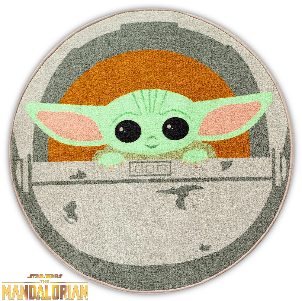 Tapete Redondo Grogu Baby Yoda Star Wars The Mandalorian