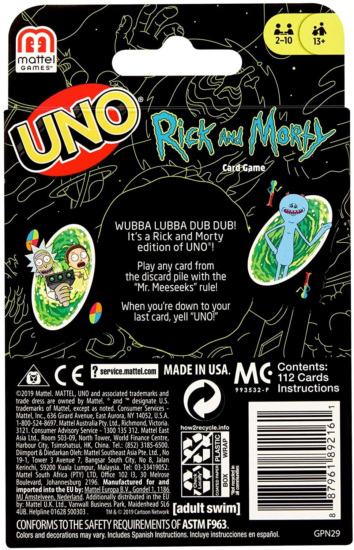 Jogo de Cartas UNO Rick and Morty