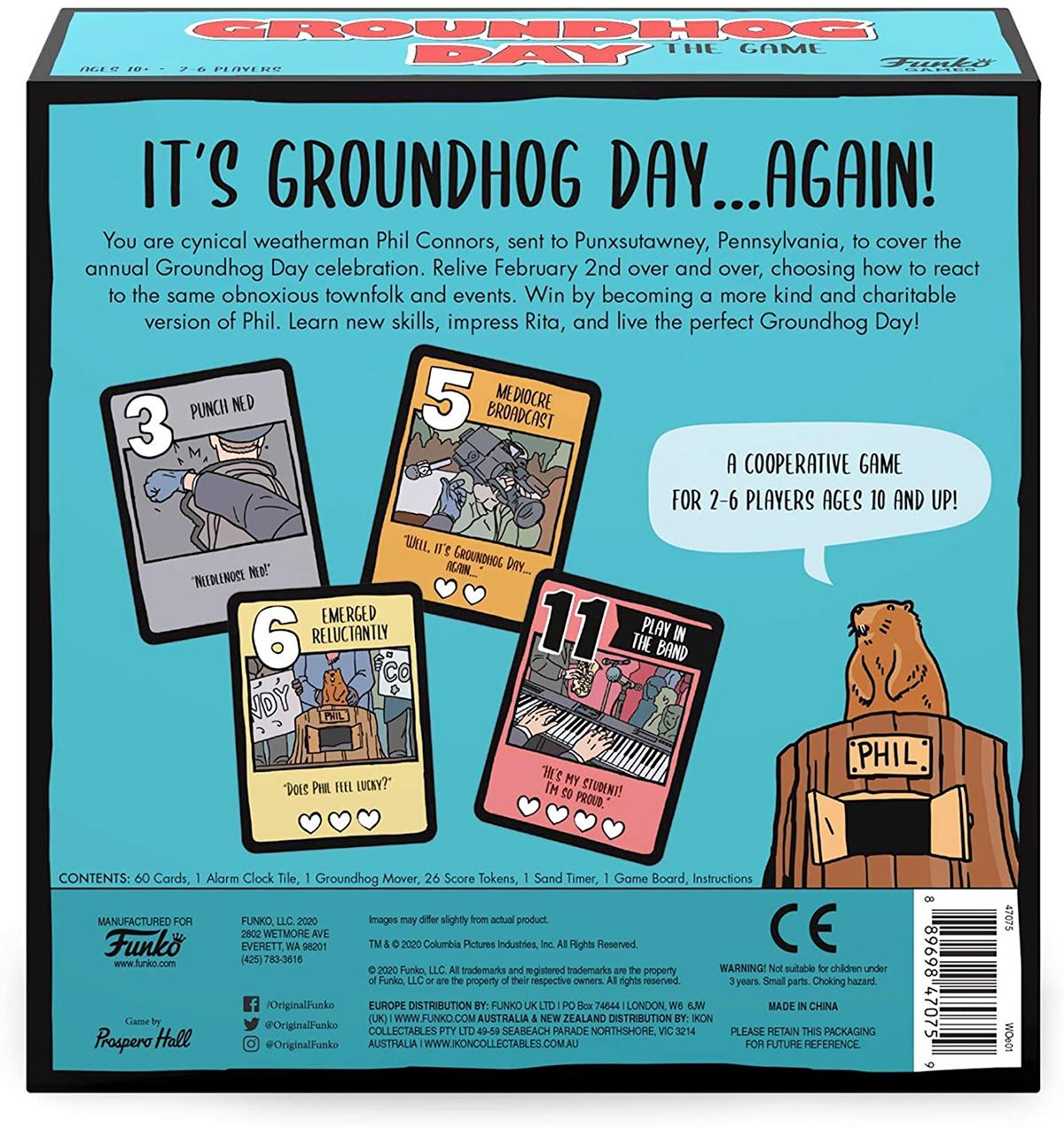 Jogo de Tabuleiro do Filme O Feitiço do Tempo Groundhog Day