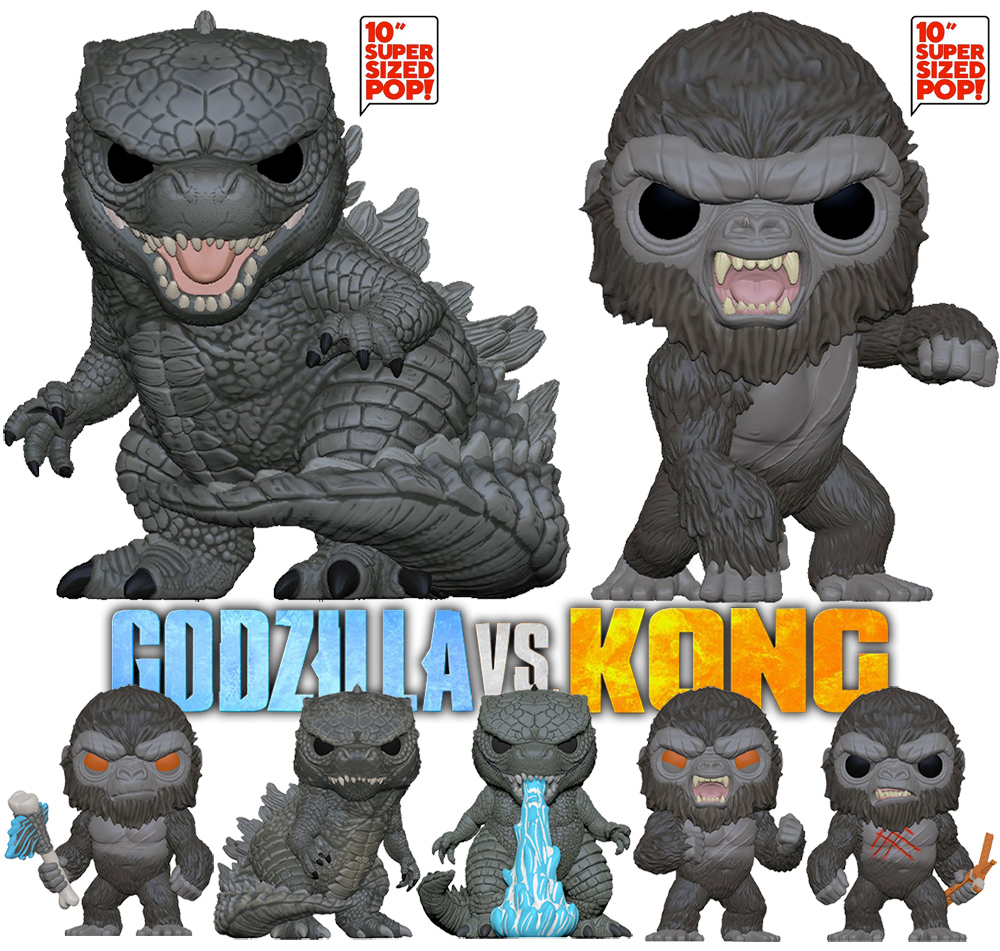 Bonecos Pop Do Filme Godzilla Vs Kong Blog De Brinquedo
