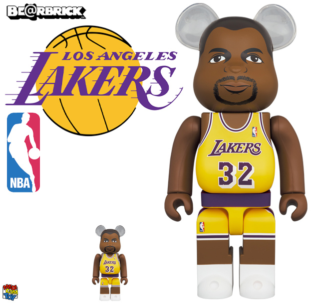 Bonecos Magic Johnson Los Angeles Lakers Bearbricks Medicom
