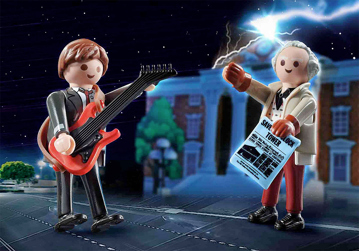 De Volta para o Futuro Back to the Future Marty Mcfly and Dr Emmett Brown Playmobil