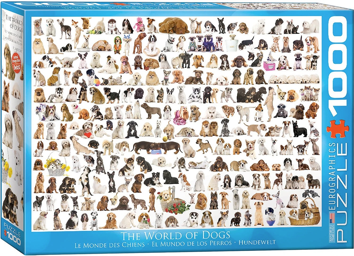 Quebra-Cabeça The World of Dogs 1000 Piece Jigsaw Puzzle