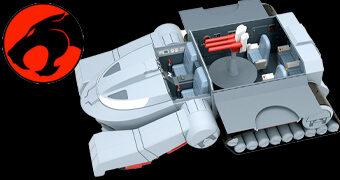 ThunderCats: Tanque ThunderTank Ultimates com 68cm de Comprimento