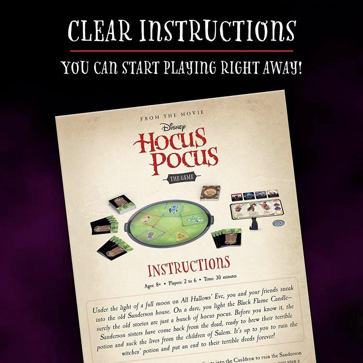 Jogo de Tabuleiro do Filme Abracadabra Hocus Pocus