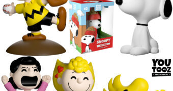 Mini-Figuras Peanuts Youtooz Collection: Charlie Brown, Lucy, Sally, Snoopy e Woodstock