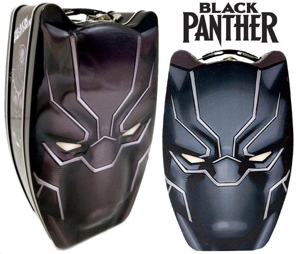 Lancheira Mascara do Pantera Negra