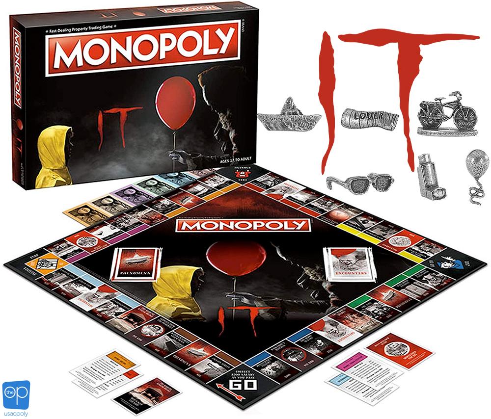 Jogo de Tabuleiro Monopoly IT Stephen King