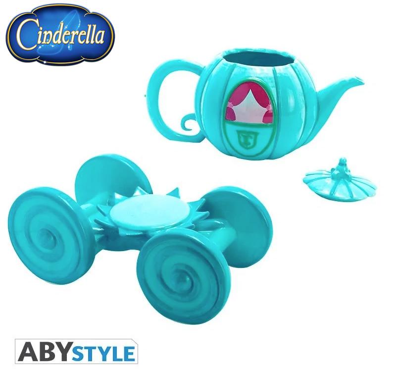 Bule de Cha Carruagem da Cinderella Disney