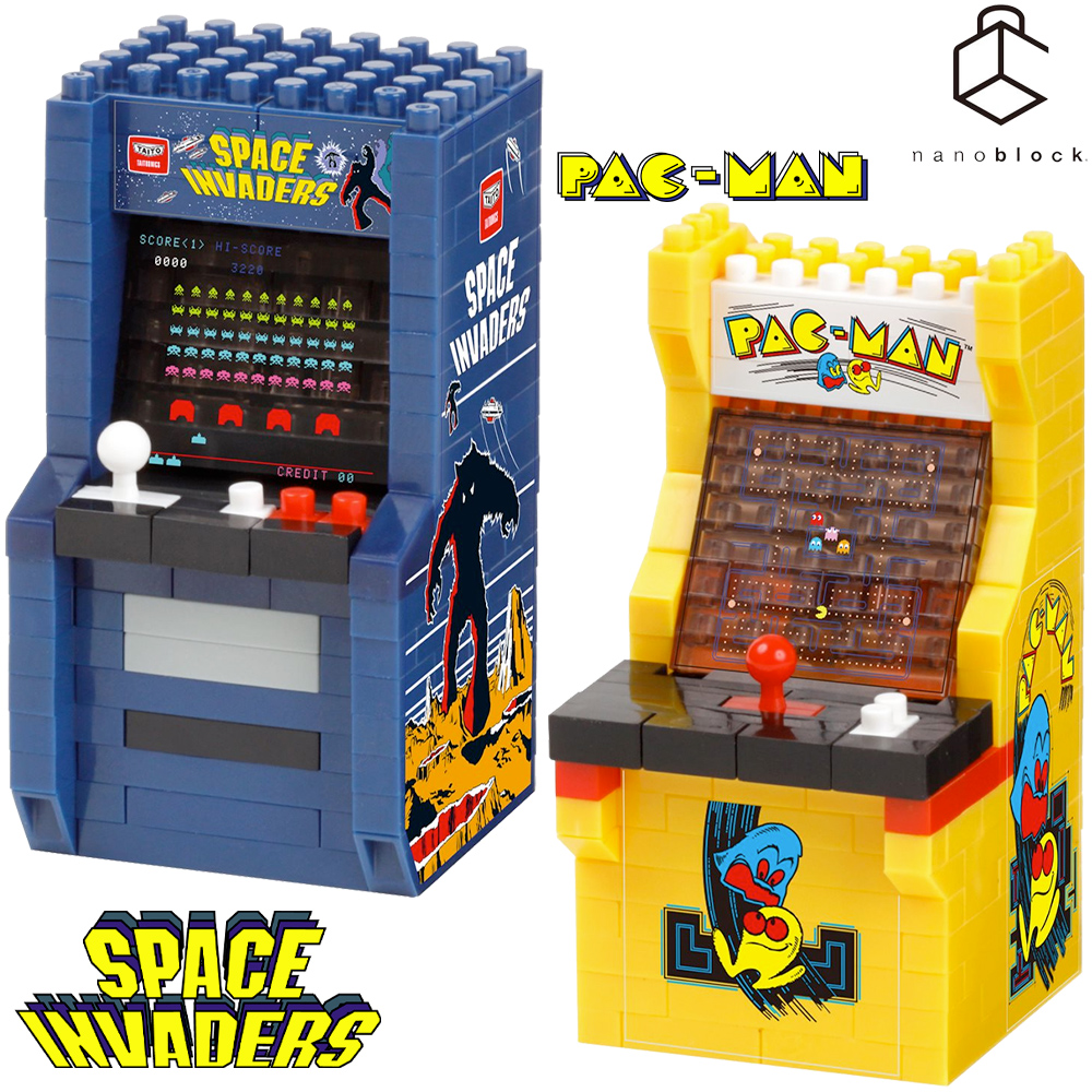 Nanoblocks Arcade Pac-Man e Space Invaders