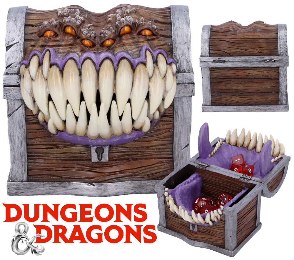 Caixa de Dados Dungeons and Dragons Mimic Dice Box Holder