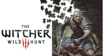 Quebra-Cabeça Geralt The Witcher 3: Wild Hunt com 1.000 Peças