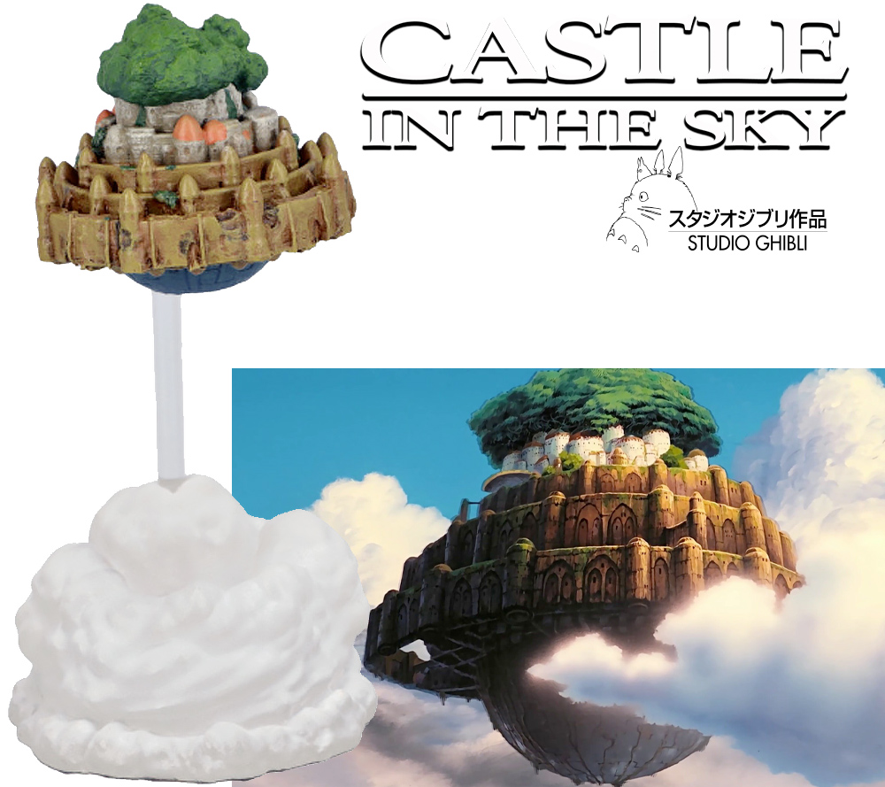 Laputa Castle In The Sky Magnetic Paper Clip Holder