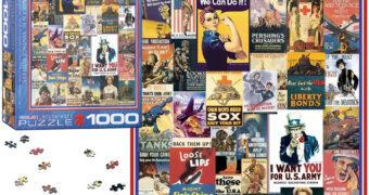Quebra-Cabeça Posters da Primeira e Segunda Guerra Mundial com 1.000 Peças