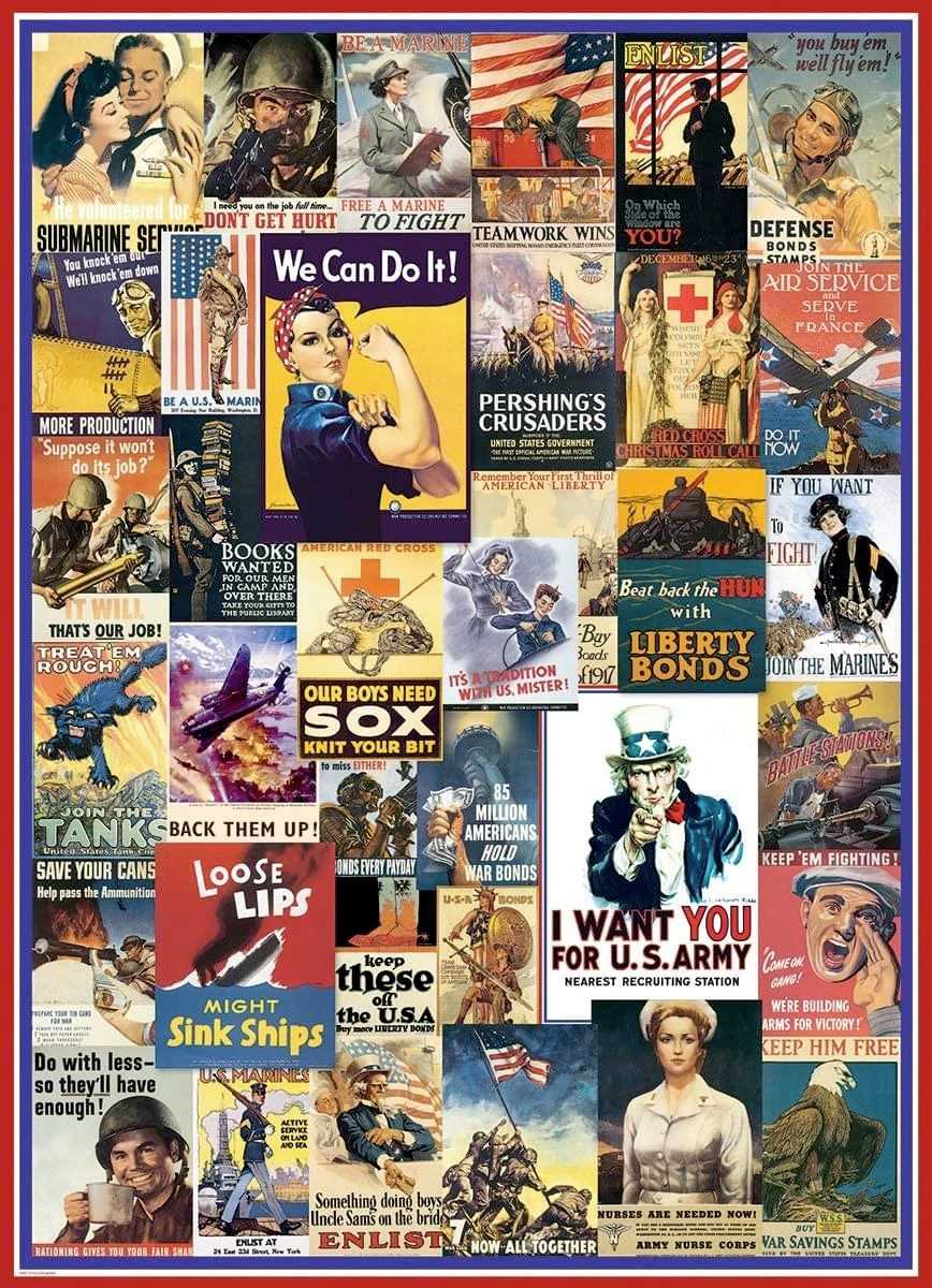 Quebra-Cabeça Posters da Primeira e Segunda Guerra Mundial