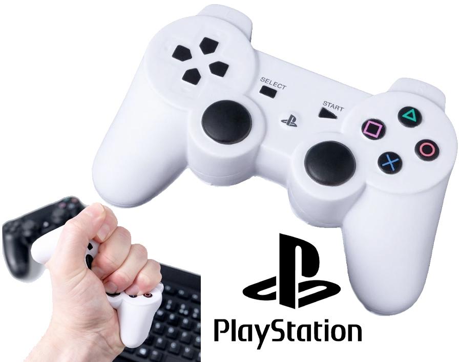 Brinquedo Anti-Stress Gamepad Branco do PlayStation