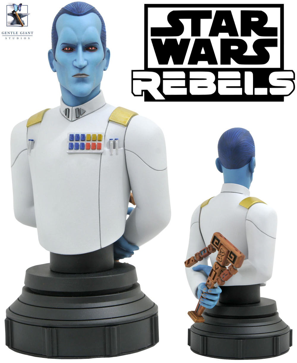 Grand Admiral Thrawn Star Wars Rebels Animated Mini Bust