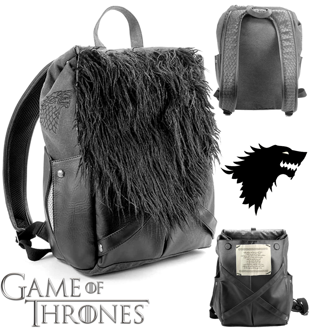 Mochila Jon Snow Nights Watch Game of Thrones Backpack