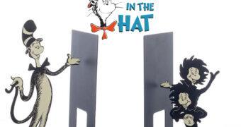 Apoios de Livros O Gatola da Cartola Dr. Seuss Bookends