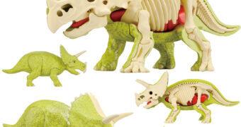 Quebra-Cabeça 3D Anatômico: Dinossauro Tricerátopo