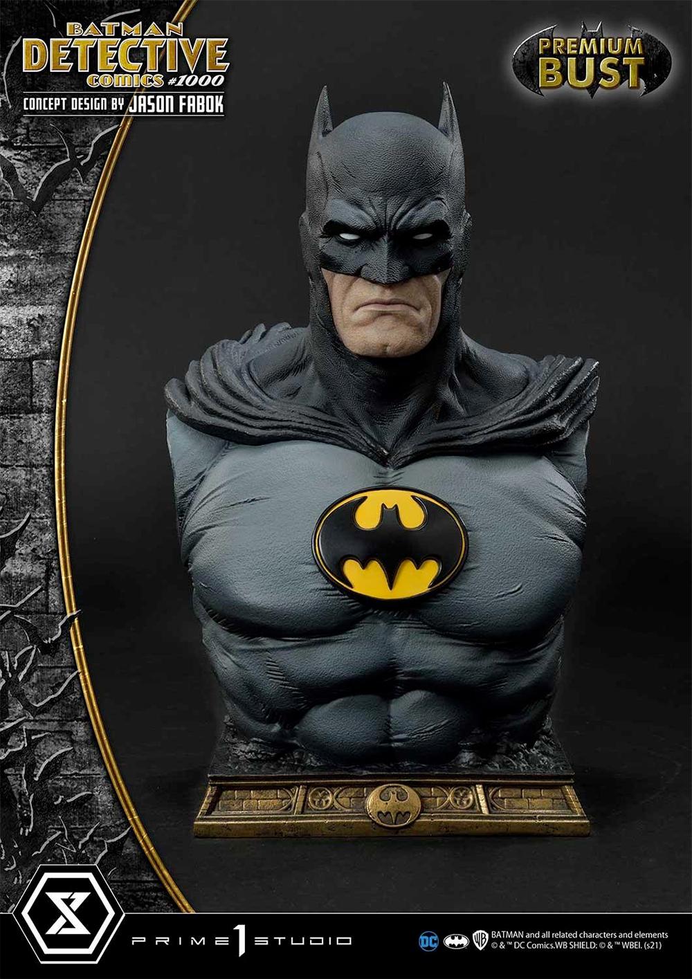 Busto Batman Detective Comics #1000 por Jason Fabok