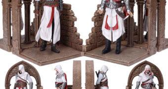 Apoios de Livros Assassin's Creed: Altaïr Ibn-La'Ahad e Ezio Auditore da Firenze