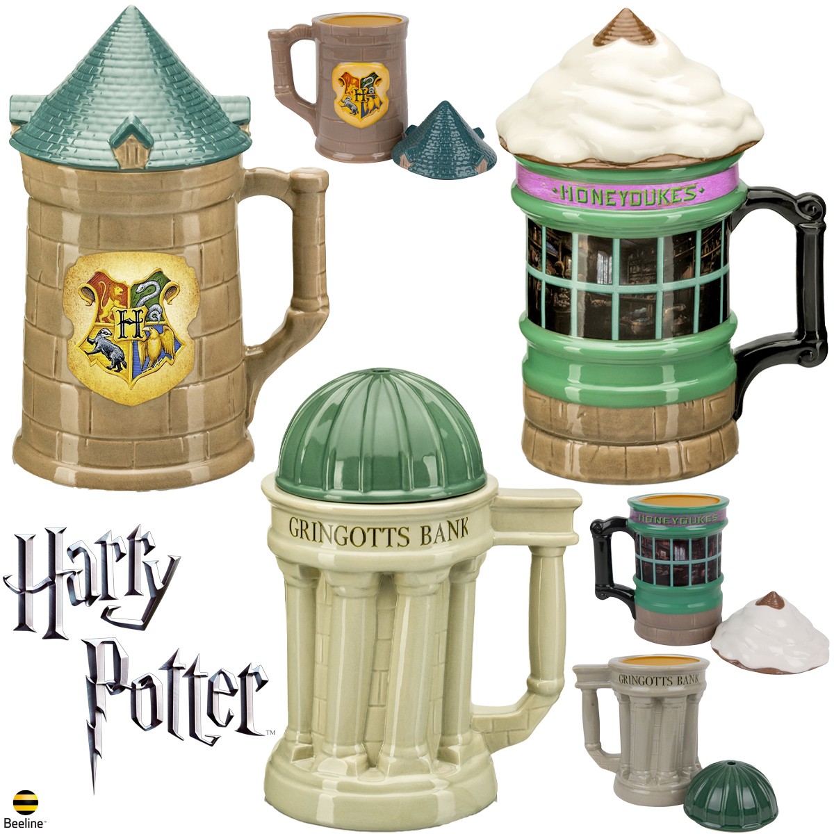 Canecas Harry Potter Lidded Mugs Beeline