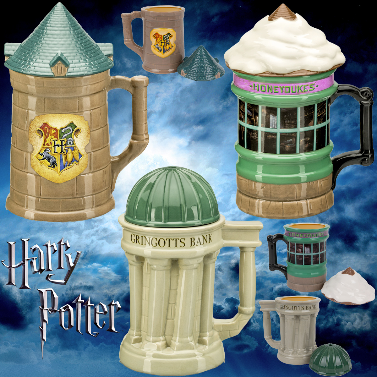 Canecas Harry Potter Lidded Mugs Beeline