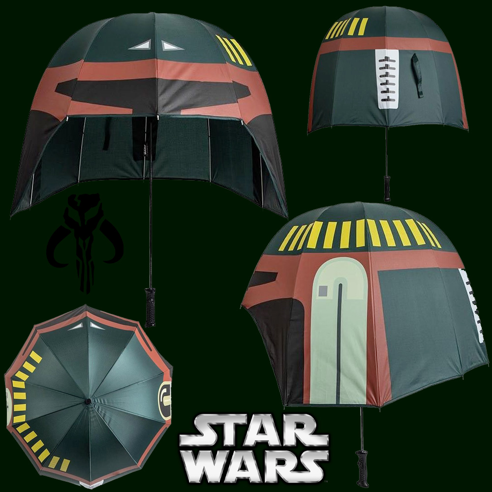 Guarda-Chuva Star Wars Boba Fett Helmet Umbrella