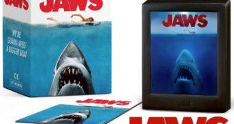 Caixa Shadow Box Tubarão (Jaws)