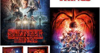 Quebra-Cabeças Stranger Things: Posters da Primeira e Segunda Temporada com 1.000 Peças