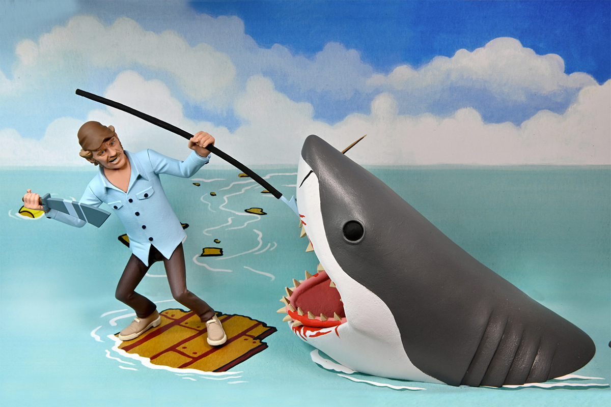 Jaws Toony Terrors: Quint and Shark Action Figures 2-Pack