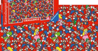 Quebra-Cabeça Impossível Super Mario com 1.000 Peças